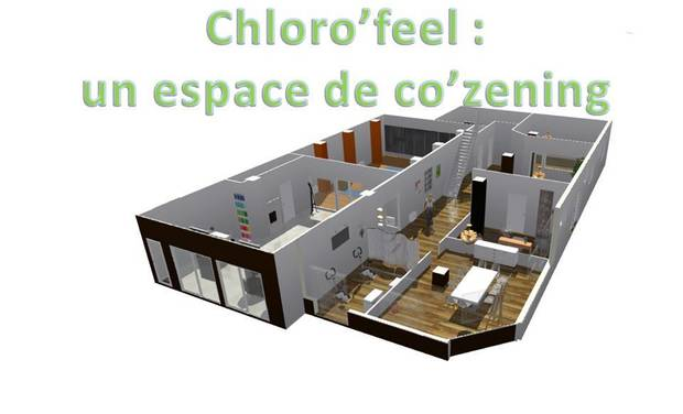 Project visual ChlorO'feel, un espace de co'zening