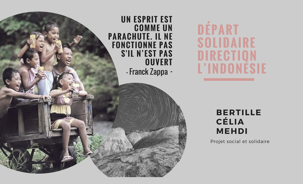 Visuel du projet Départ solidaire direction l'Indonésie