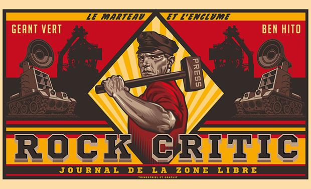 Visuel du projet Rock Critic, le magazine de la zone libre