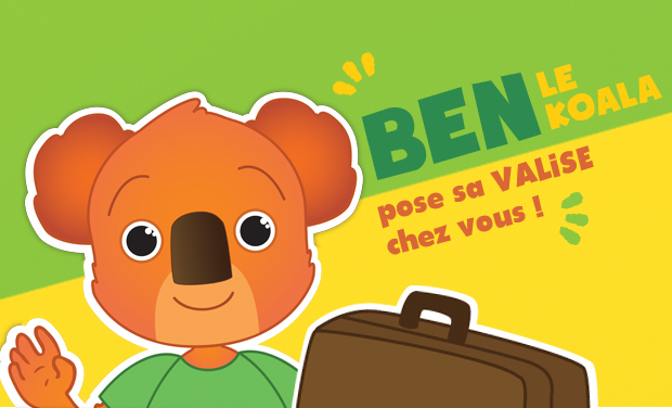 Project visual La Valise de Ben le koala