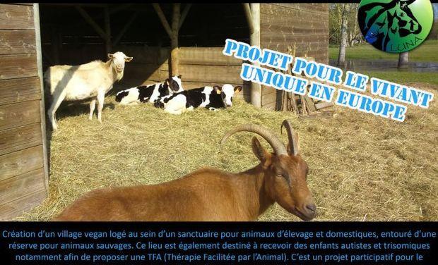 Visueel van project sanctuaire pour animaux