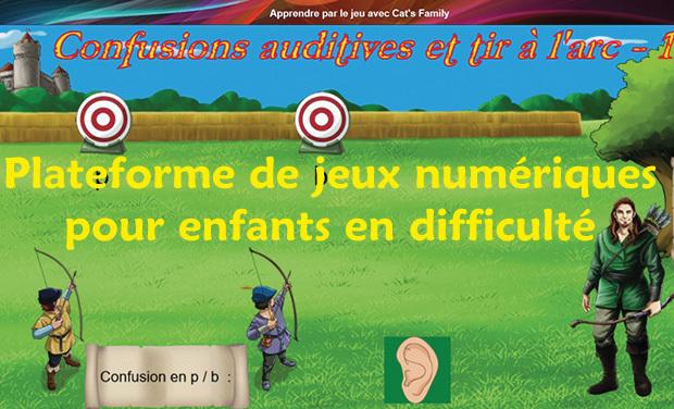 Project visual Plateforme de jeux numériques pour enfants en difficultés scolaires