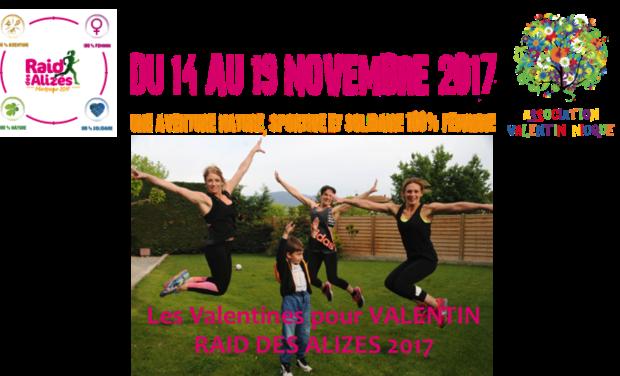 Visuel du projet Les Valentines pour Valentin- RAID DES ALIZES 2017