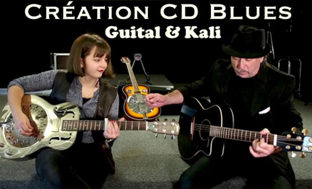 "Visuel du projet Création CD Blues ""Blues transfer"". Guital & Kali"
