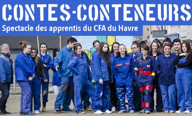Visuel du projet Contes-conteneurs : Spectacle des apprentis du CFA du Havre