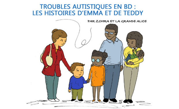 Visuel du projet Aider les enfants autistes en BD – Les histoires de Emma & Teddy