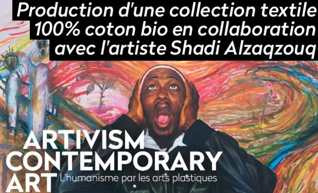 Visuel du projet Production d'une collection textile biologique, en collaboration avec l'artiste Shadi Alzaqzouq