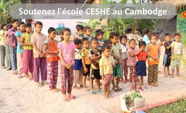 Project visual Soutenez l'école CESHE au Cambodge