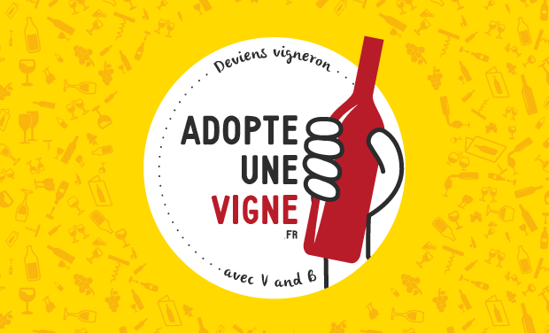 Project visual Adopte une vigne avec V and B