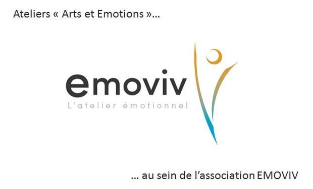"""Visuel du projet Ateliers """"arts et émotions"""" au sein de l'association EMOVIV"""