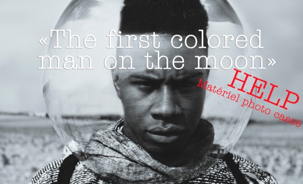"Visuel du projet ""The first colored man on the moon"""
