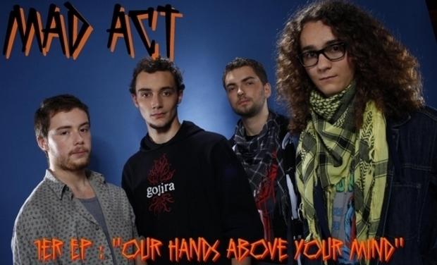 Visuel du projet 1er EP de MAD ACT (Thrash Metal déjanté) !
