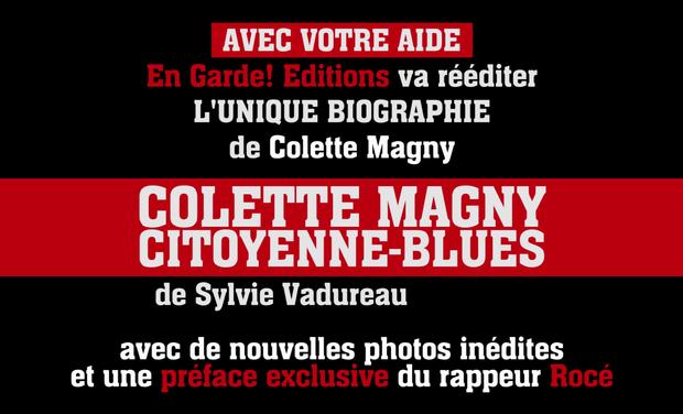 """Visuel du projet Réédition de la biographie de Colette Magny """"Citoyenne-blues"""""""