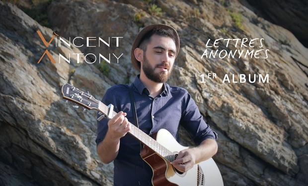 """Visuel du projet Vincent Antony: """"Lettres Anonymes"""", son 1er Album"""