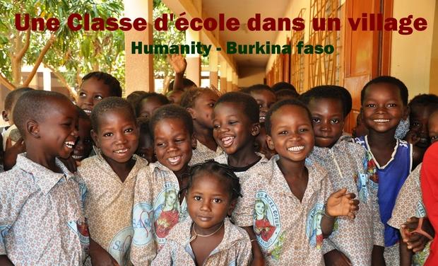 Visuel du projet 1 classe d'école dans un village - Humanity - Burkina Faso