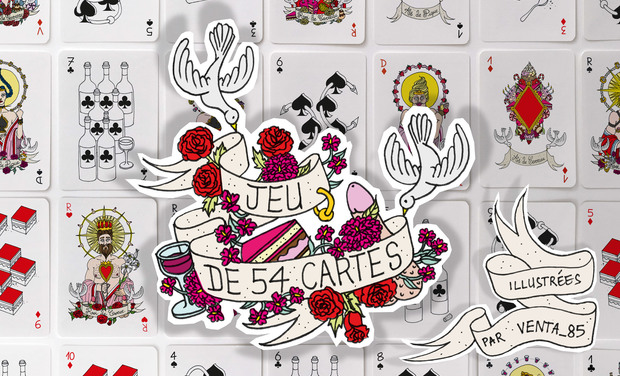 Project visual Jeu de 54 cartes Illustrées par Venta_85