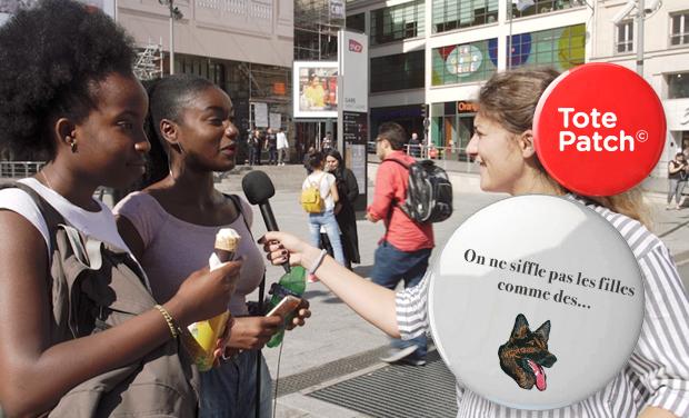 Visuel du projet Soutenez le projet de tote bag féministe : On ne siffle pas les filles comme des…