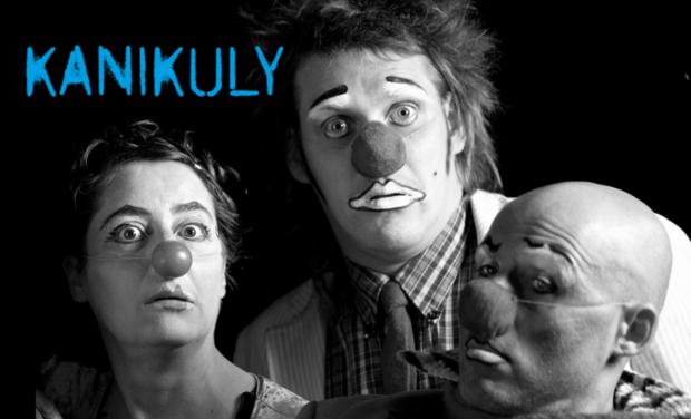 Visueel van project KANIKULY, création franco-russe pour 3 clowns