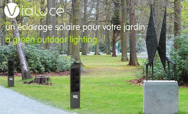 Visueel van project ViaLuce, un éclairage pour la planète / a green outdoor lighting.