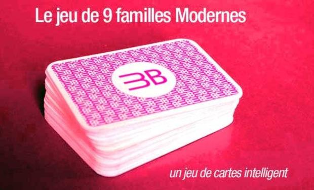 Project visual Les 9 familles modernes, un jeu de cartes intelligent