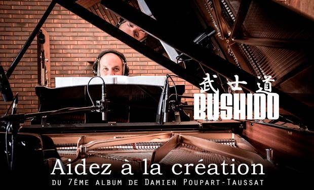 """Visuel du projet Album """"BUSHIDO"""" de Damien Poupart-Taussat"""