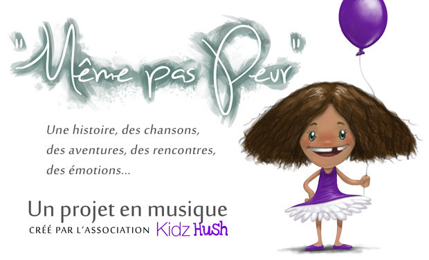 """Visuel du projet Livre-Album: """"Même pas Peur"""", un sourire pour les Orphelins du SIDA"""