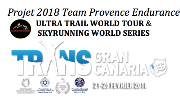 Project visual Ultra Trail World Tour pour l'équipe Team Provence Endurance