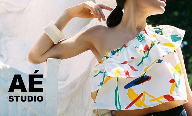 Visuel du projet Lancement AÉ Studio, vêtements par Emilie Doré et Agoston Palinko