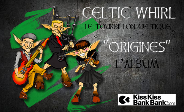 "Visueel van project Celtic Whirl - Album ""Origines"""