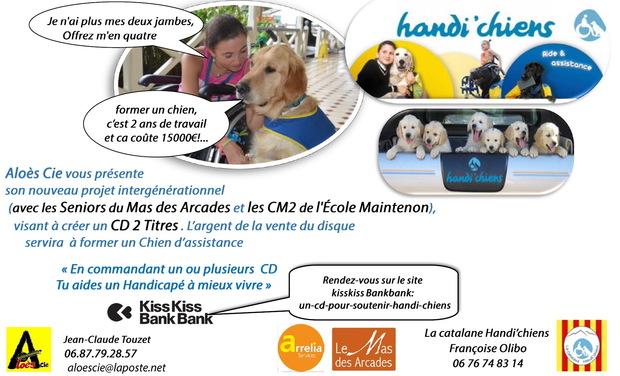 Visuel du projet Un CD  pour soutenir Handi'chiens