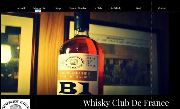 Visuel du projet Un nouveau Site pour le Whisky Club De France