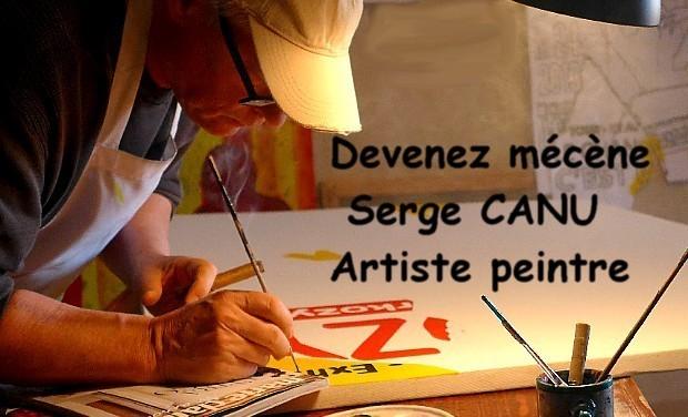 Visuel du projet Devenez mécène . Peintures Serge CANU.