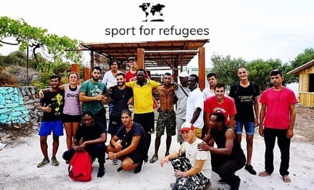 Project visual Refugees champions in martial arts