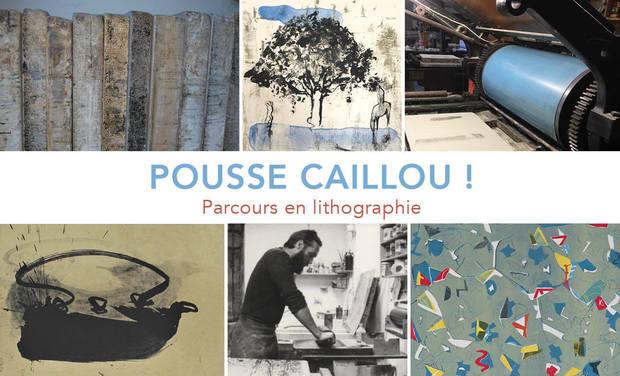 Project visual Pousse Caillou : parcours en lithographie