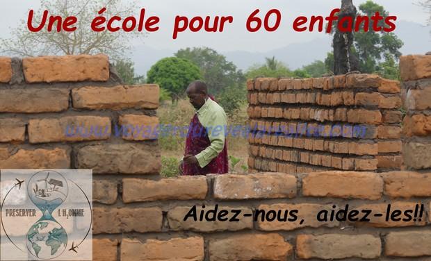 Visuel du projet Aidons les enfants Massaï à construire leur l'école
