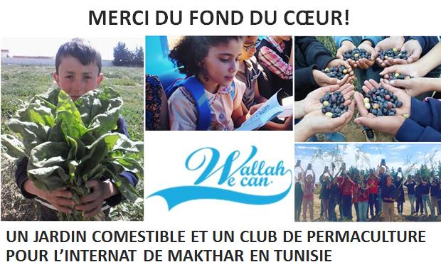 Visuel du projet Un jardin comestible en permaculture pour le collège internat de Makhtar