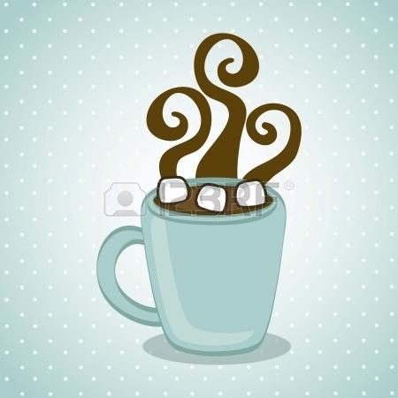 18606902-chaud-chocolate-sur-fond-bleu-illustration-vectorielle-1408990549