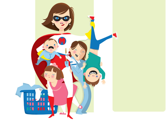 Super-mom-kids-illustration-laundry-basket-1452624793