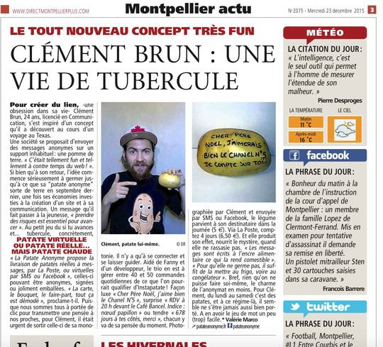 Une de Direct Matin