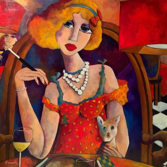Pauline_et_son_chien_biscotte_-_100x100_cm_-_acrylique_sur_toile_-_fauve_artiste_peintre-1456952333