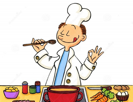 Dessin-anim_-d-un-cuisinier-dans-la-cuisine-22282981-1457369007