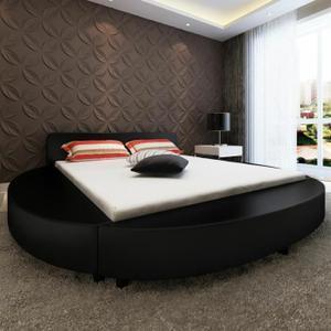 Lit-en-pu-noir-ronde-180-cm-avec-matelas-1483630750