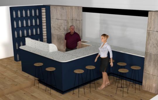 Bar à cidre sur mesure