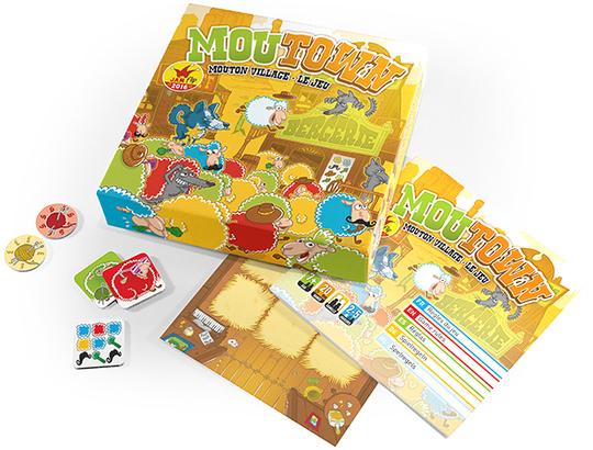 MOUTOWN, un jeu de société de Robin Red Games, édité spécialement avec la communauté de communes de Parthenay-Gâtine suite à sa création en 24h sur le Festival des jeux de Parthenay