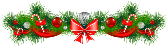 Transparent_christmas_pine_garland_red_bow_png_clipart-1513952431