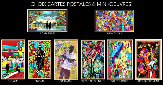 carte postale oeuvre d'art