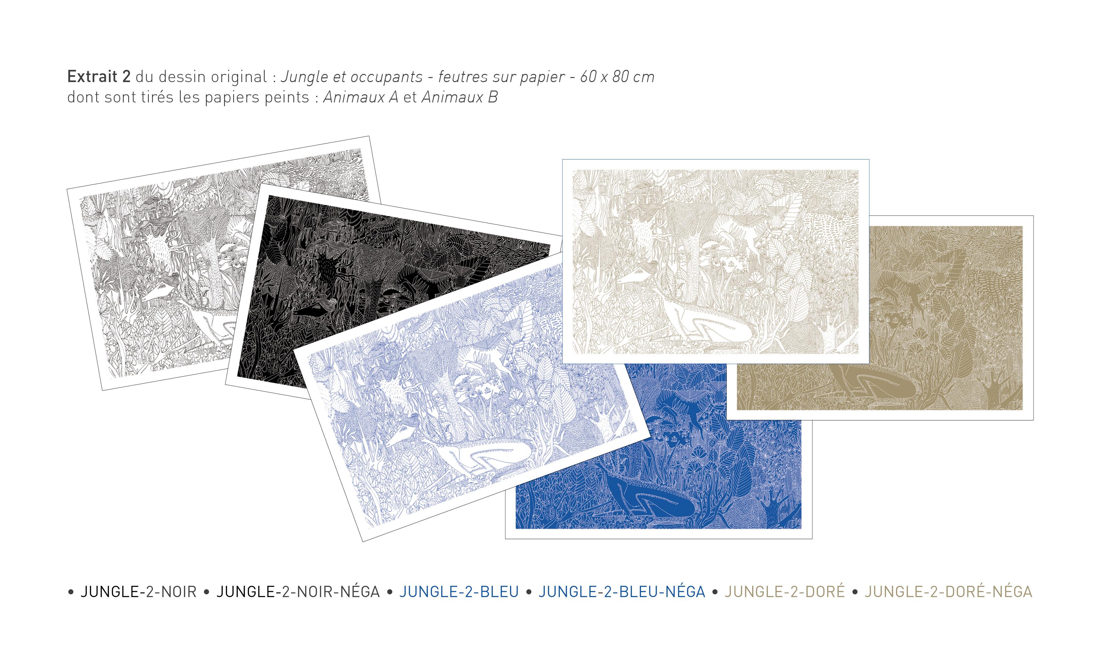 2 Papiers Peints Différents cilé - papiers peints par cécile-pasquier — kisskissbankbank