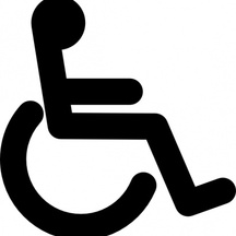 Normal disabled wheel chair access sign clip art